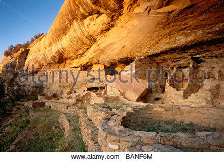 Mug House Wetherill Mesa Ancestral Pueblo culture aka Anasazi culture Mesa Verde National Park Colorado - Stock Photo