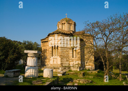 Church of the Holy Apostles at Ancient Agora in Plaka district of Athens Greece Europe - Stock Photo