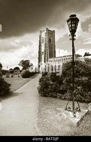 Lavenham Church, St Peter and St Paul's, Sudbury, Suffolk, UK - Stock Photo