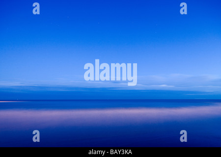 Beach at Eastbourne in the evening light, East Sussex, England, Europe - Stock Photo