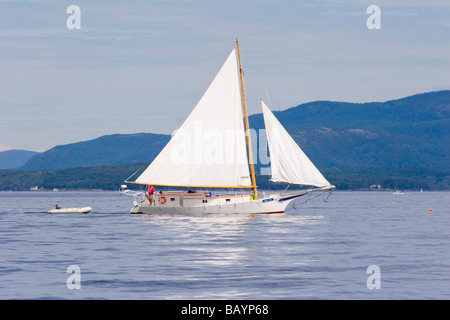A converted Skipjack in Maine - Stock Photo