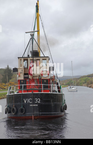 S. L. VIC 32 on the Crinan Canal - Stock Photo