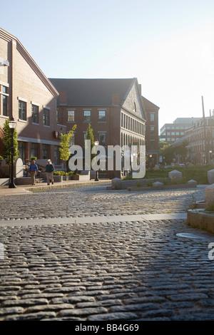 Street scene in Portland, ME - Stock Photo