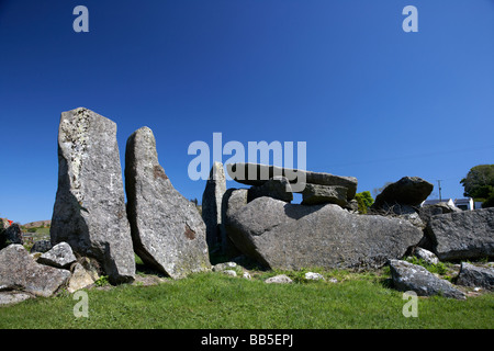 clontygora court tomb known as the kings ring south county armagh northern ireland uk - Stock Photo