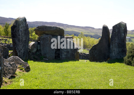 clontygora court tomb known as the kings ring south county armagh northern ireland border uk - Stock Photo