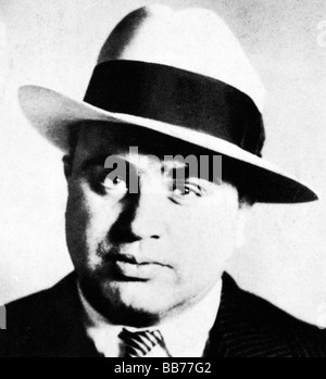 Al Capone 1918 draft registration photo of the notorious prohibition era American gangster - Stock Photo