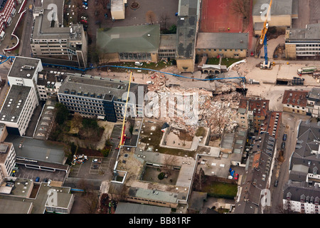 Aerial view, collapse of the Historical Archive of the City of Cologne, Cologne, North Rhine-Westphalia, Germany, - Stock Photo