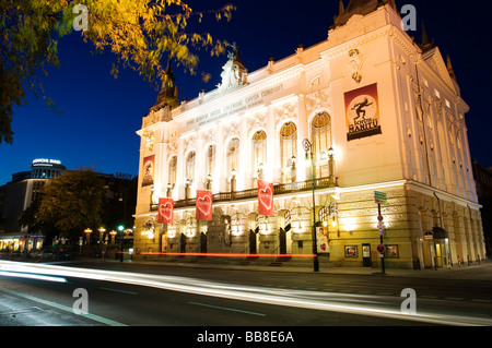 Theater des Westens theatre at night, Berlin, Germany, Europe - Stock Photo