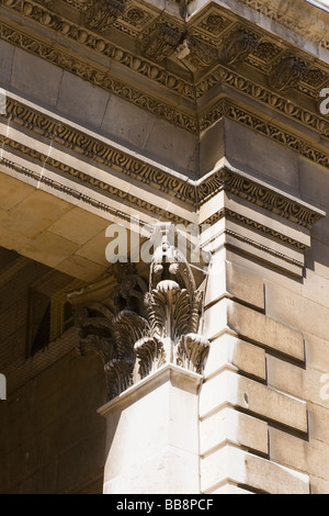 Greenwich , King Charles Court or Building by architect Christopher Wren , completed 1721 , wall detail - Stock Photo