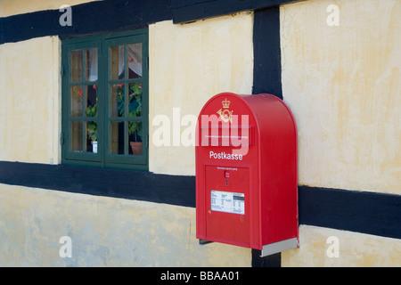 Wall mounted post box, Denmark - Stock Photo