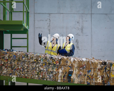Workers In Recycle Plant - Stock Photo