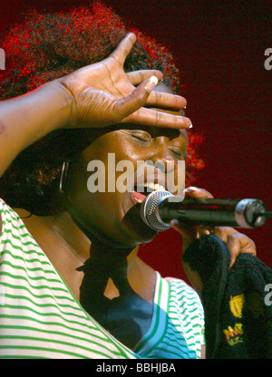 Entertaining over 25 000 local and international jazz lovers and fans is Gloria Bosman performs at the 4th Annual - Stock Photo