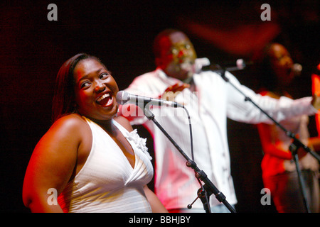 Entertaining over 25 000 local and international jazz lovers and fans is Joyous celebrations choir performs at the - Stock Photo