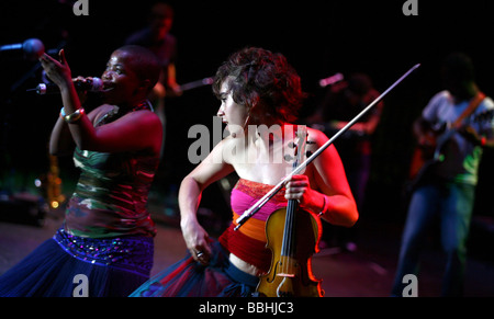 Entertaining over 25 000 local and international jazz lovers and fans is Freshly Ground who have just won the best - Stock Photo