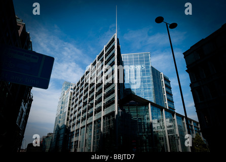 View of the RBS office building near Liverpool Street in the East end of the city of London, UK, Great Britain, - Stock Photo