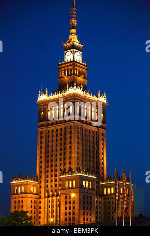 Poland Warsaw Palace of Culture and Science - Stock Photo
