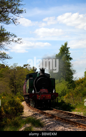Strathspey Restored Steam Railway,  Boat of Garten steam railway station Aviemore, Scotland, UK - Stock Photo