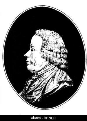 Gluck, Christoph Willibald, 2.7.1714 - 15.11.1787, German musician (composer), portrait, drawing, Additional-Rights - Stock Photo