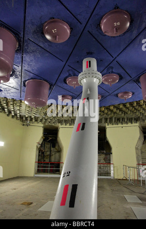 THE BOTTOM OF THE OLD REACTOR OF SECTION 1 OF THE EDF NUCLEAR POWER PLANT IN BUGEY, AIN (01), FRANCE - Stock Photo