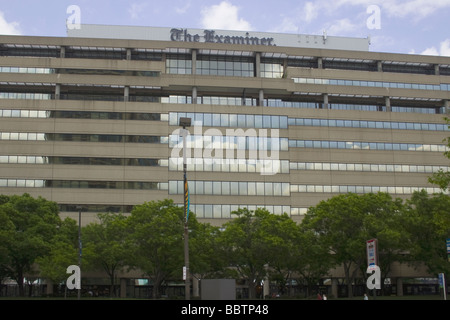 Office building for The Baltimore Examiner newspaper in Baltimore, Maryland - Stock Photo