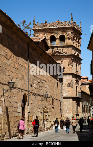 Company Street and the Palace of Monterrey in Salamanca Castilla Leon Spain - Stock Photo