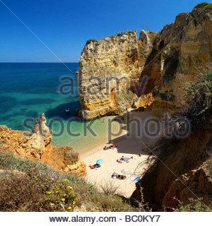 Praia da Dona Ana at Lagos - Algarve - Portugal - Stock Photo