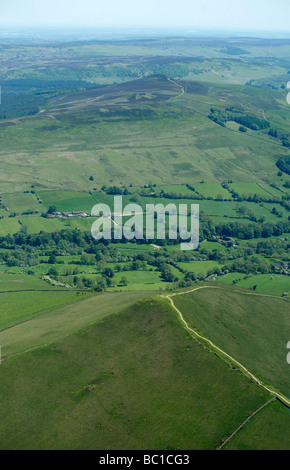 The Pennine Way, at the north end of Edale, Derbyshire Peak District, Northern England - Stock Photo