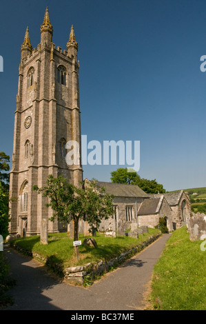 Widecombe in the Moor Parish Church in the Dartmoor National Park Devon - Stock Photo