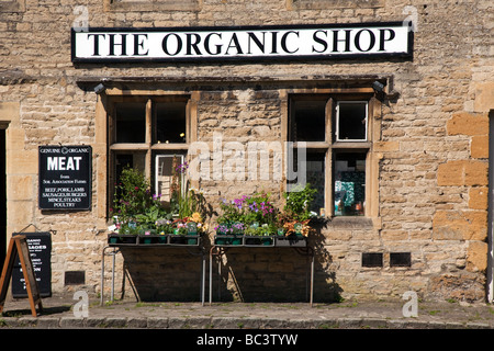 The Organic Shop Market Place Stow on the Wold Cotswold Hills Gloucestershire - Stock Photo