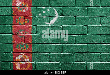 Flag of Turkmenistan - Stock Photo