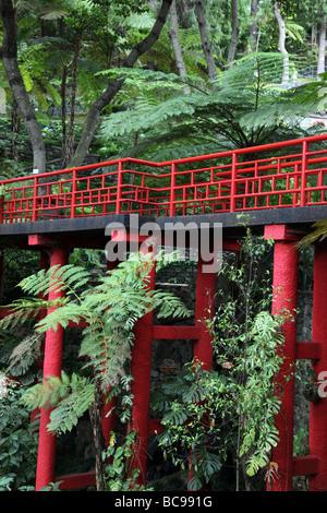 Japanese viaduct  Monte Palace Tropical Garden Madeira - Stock Photo