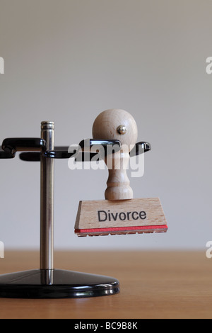 Stamp with inscription Divorce - Stock Photo