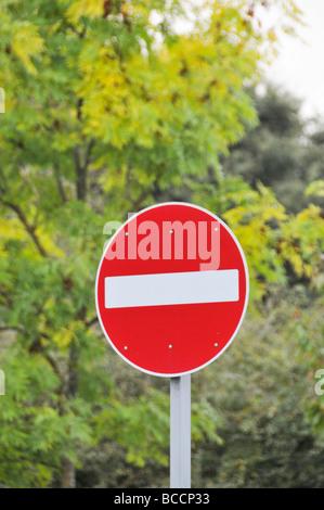No Entry road Sign UK - Stock Photo