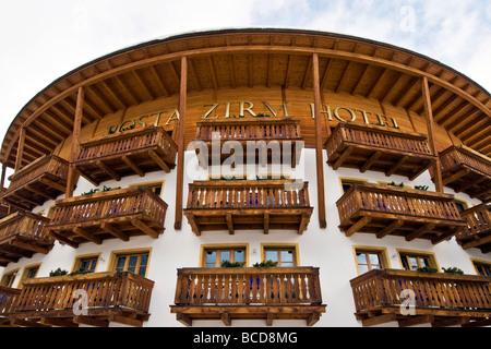 Posta Zirm Hotel Corvara in Badia Bolzano Italy - Stock Photo