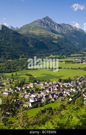 Village d'Aucun & Arrens-Marsous, Hautes-Pyrenees, Midi-Pyrenees, France - Stock Photo