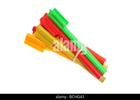 Bundle of Colouring Pens - Stock Photo