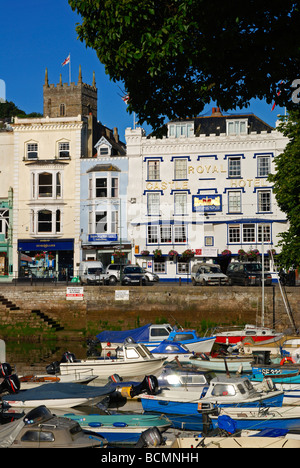 boats in the harbour at dartmouth,devon,uk - Stock Photo