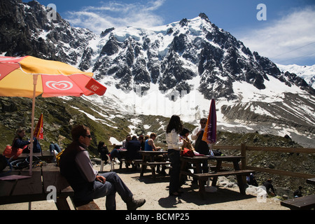 Café Plan de l'Aiguille - Stock Photo
