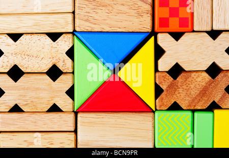 play building blocks - Stock Photo