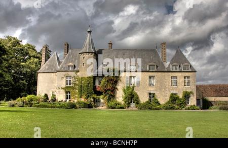 Chateau de Saint Paterne, Near Le Mans, France - Stock Photo