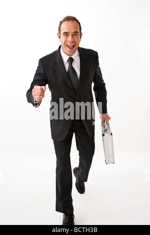 Businessman running - Stock Photo