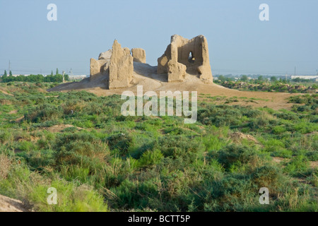 Kyz Kala at the Ruins of Merv in Turkmenistan - Stock Photo
