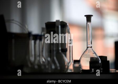 Glass beakers - Stock Photo