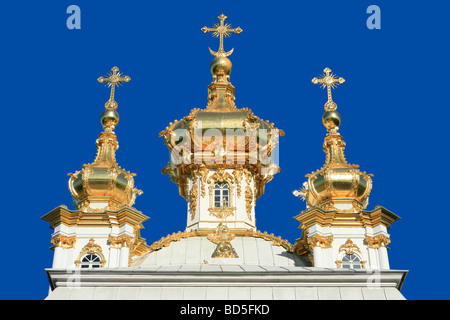 The East Chapel of the 18th century Baroque Peterhof Palace in Saint Petersburg, Russia - Stock Photo
