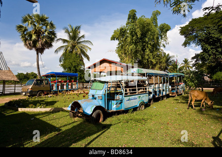 Remnants of a holiday village on Don Det Laos - Stock Photo