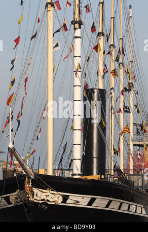 Bristol the SS Great Britain iron ship designed by Brunel - Stock Photo