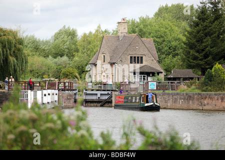 Iffley Lock, Oxfordshire - Stock Photo