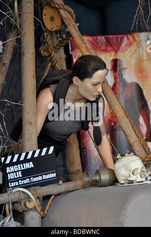 Wax Model outside the Movieland Wax Museum on Clifton Hill, Niagara, Ontario - Stock Photo