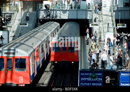 Underground station, Earls Court, SW5, London, United Kingdom - Stock Photo