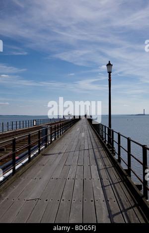 Southend on Sea pleasure pier - Stock Photo